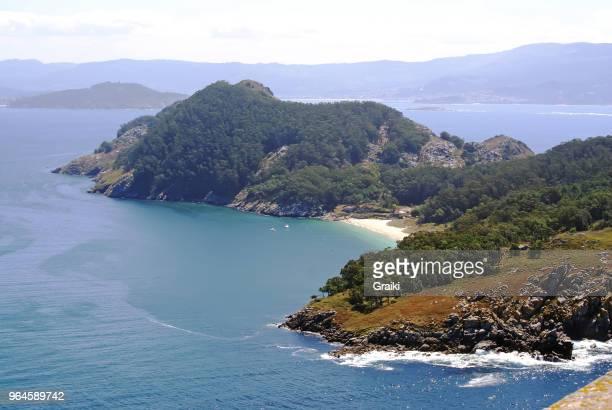 ons island galicia spain - europa kontinent stock-fotos und bilder