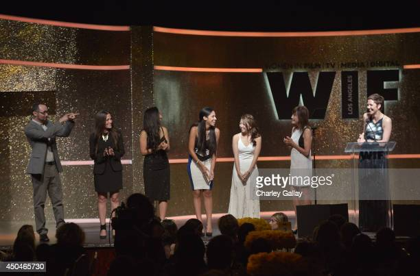onstage at Women In Film 2014 Crystal Lucy Awards presented by MaxMara BMW PerrierJouet and South Coast Plaza held at the Hyatt Regency Century Plaza...