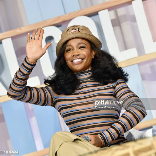 SZA onstage during Dove's Launch of Girl Collective The First Ever Dove SelfEsteem Project MegaEvent on October 6 2018 in Los Angeles California