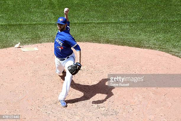 TORONTO Ontario JUNE 6 Toronto Blue Jays starting pitcher Drew Hutchison would earn the win as the Toronto Blue Jays beat the Houston Astros 72 in an...