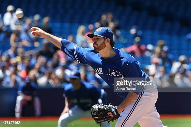 Ontario- JUNE 6 - Toronto Blue Jays starting pitcher Drew Hutchison would earn the win as the Toronto Blue Jays beat the Houston Astros 7-2 in an...