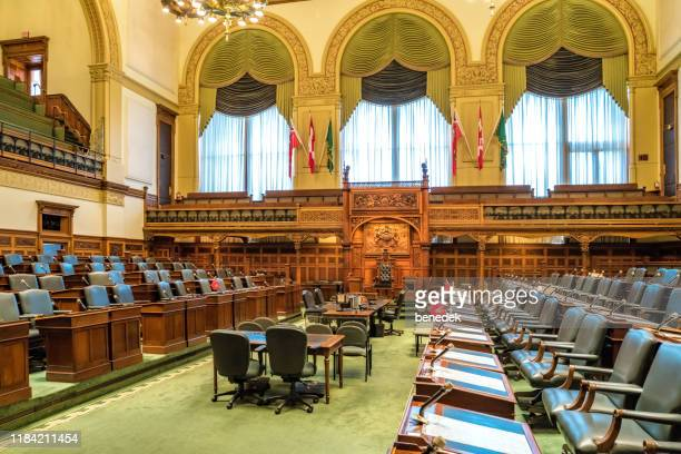 ontario legislative building seating chamber queen's park toronto canada - parliament building stock pictures, royalty-free photos & images