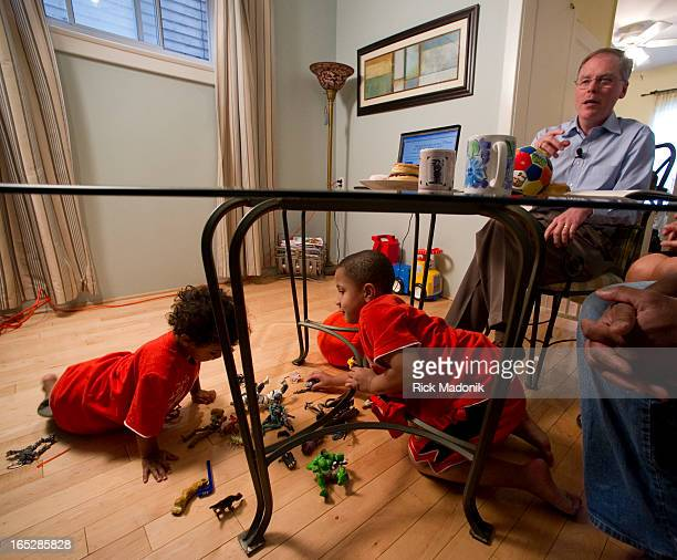 06/10/10 TORONTO ONTARIO Ontario Minister of Revenue John Wilkinson held a presser at the home of Paula and Jermaine Kirksey to further sell the HST...