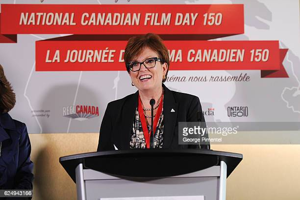 Ontario MPP and Minister of Tourism Culture and Sport The Honourable Eleanor McMahon attends the REEL CANADA press conference announcing a major...