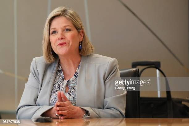 Ontario NDP Leader Andrea Horwath at the Toronto Star answering questions from the editorial board as well as those submitted by readers via social...