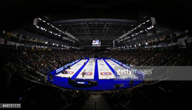 Ontario play Manitoba in the Gold Medal match during the 2017 Scotties Tournament of Hearts at the Meridian Centre on February 26 2017 in St...