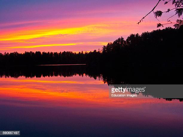 Ontario Quetico Park Lake Agnes Sunset wilderness sunset