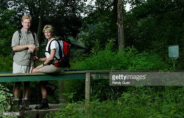 Husband and Wife Keith Harradence and Susan Ormiston of the CBC shown at High Park The couple plans to hike up Mount Kilamanjaro to raise funds for...