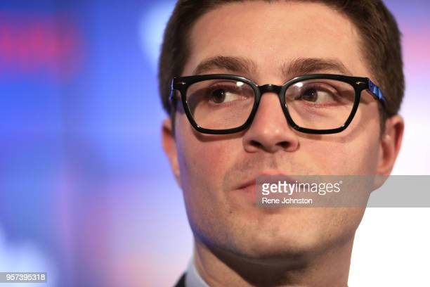 Toronto-DUBAS.The Maple Leafs announced today the promotion of Kyle Dubas to General Manager. Brendan Shanahan was on hand for the announcement..May...