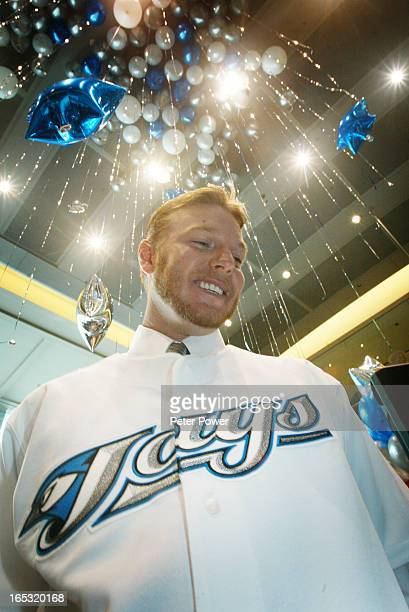 Photo092985Blue Jays pitcher Roy Halladay was in Toronto with his wife Brandy Halladay to attend a press conference held at the Rogers building to...