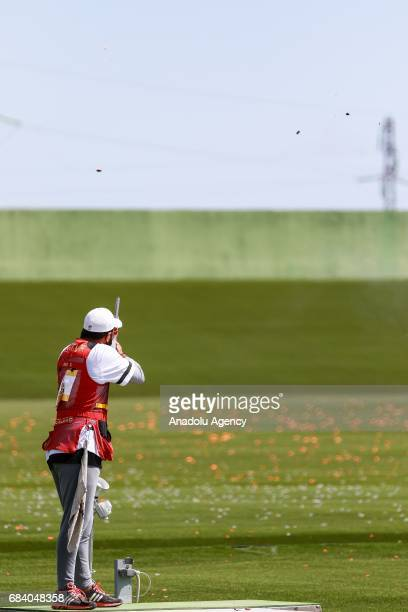 Onur Atak Of Turkey Competes In The Mixed Team Skeet Qualification Round During Day Six Of