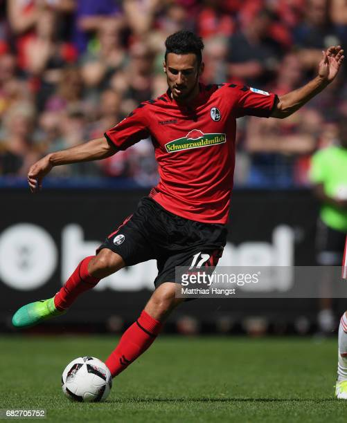 Onur Bulut of Freiburg controls the ball during the Bundesliga match between SC Freiburg and FC Ingolstadt 04 at SchwarzwaldStadion on May 13 2017 in...