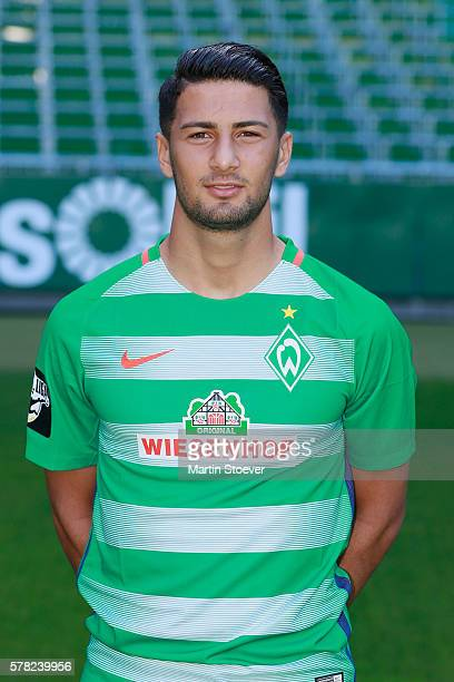 Onur Capin poses during the offical team presentation of Werder Bremen II on July 20 2016 in Bremen Germany