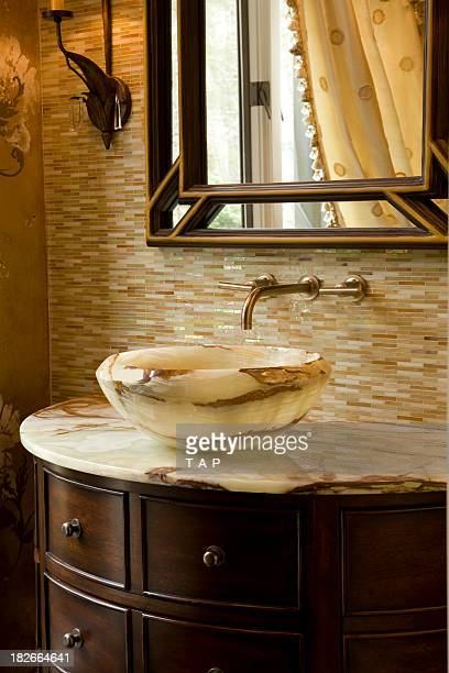 Onyx Vanity with custom bowl