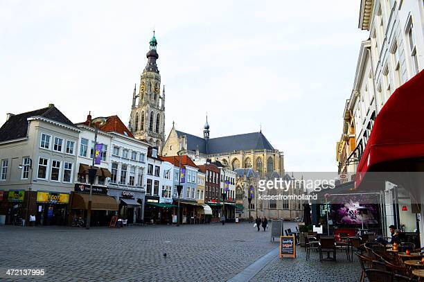 onze lieve vrouwe church breda, the netherlands - breda stock pictures, royalty-free photos & images