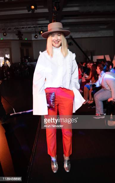Oona Chanel attends Jordan Fashion Week 019 on March 30 2019 at the Kempinski Amman in Amman Jordan