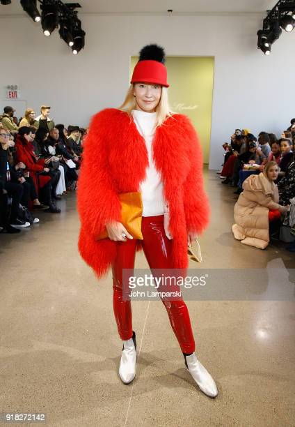 Oona Chanel attends Leanne Marshall show during February 2018 New York Fashion Week The Shows at Gallery II at Spring Studios on February 14 2018 in...