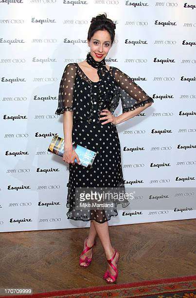 Oona Chaplin attends a party hosted by Jimmy Choo & Esquire during the London Collections SS14 on June 16, 2013 in London, England.