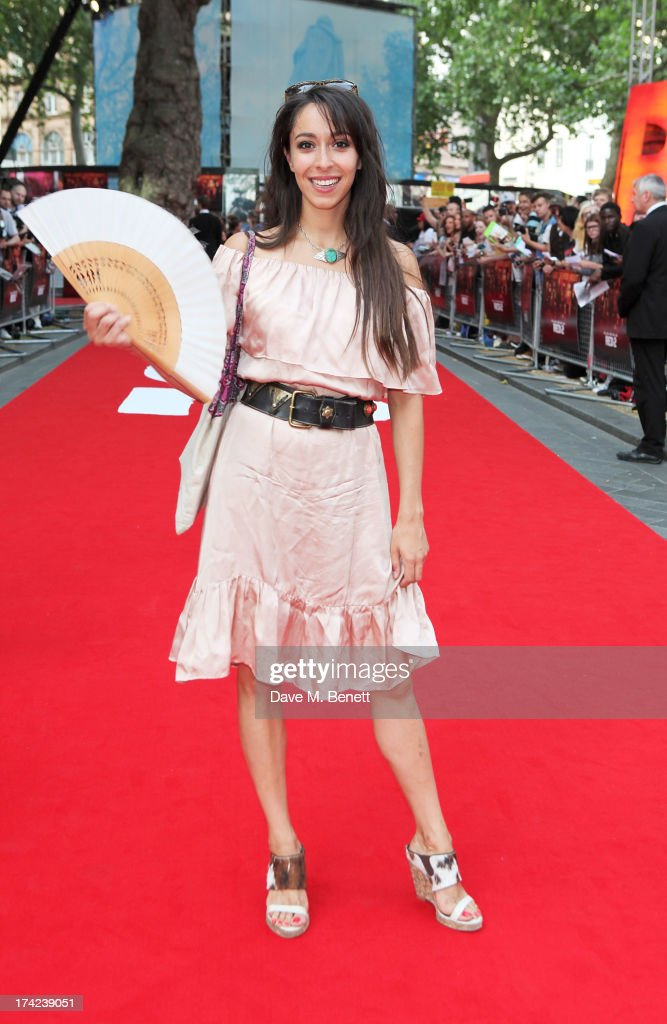 Oona Chaplin attends the European Premiere of 'Red 2' at the Empire Leicester Square on July 22, 2013 in London, England.