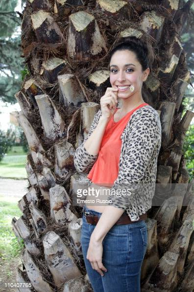 Oona Chaplin poses while meeting students of the cinema