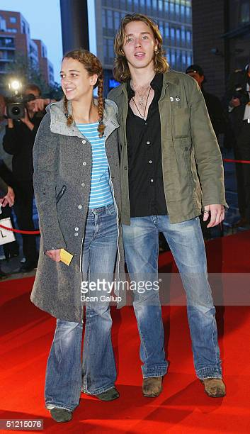 Oona Devi Liebich and singer Gil attend the First Steps Awards 2004 Germanlanguage films and commercials made by young and emerging directors at the...