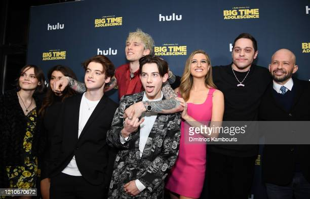Oona Laurence, Brielle Barbusca, Thomas Barbusca, Colson Baker AKA Machine Gun Kelly, Griffin Gluck, Emily Arlook, Pete Davidson and Jon Cryer attend...
