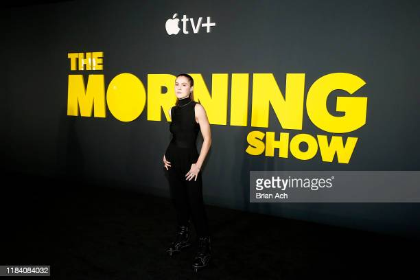 Oona Roche attends Apple's global premiere of The Morning Show at Josie Robertson Plaza and David Geffen Hall Lincoln Center for the Performing Arts...