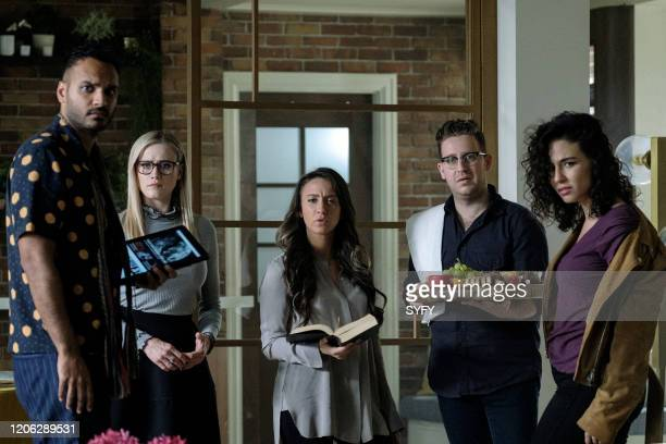THE MAGICIANS Oops I did It Again Episode 506 Pictured Arjun Gupta as Penny Adiyodi Olivia Taylor Dudley as Alice Quinn Stella Maeve as Julia Wicker...