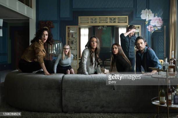 THE MAGICIANS Oops I did It Again Episode 506 Pictured Jade Tailor as Kady OrloffDiaz Olivia Taylor Dudley as Alice Quinn Stella Maeve as Julia...
