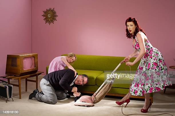 oops - tv housewife stock photos and pictures