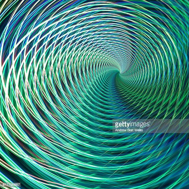 3D op art spiral vortex image