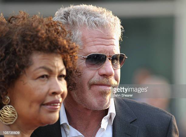 Opal Pearlman and Ron Perlman arrive at the Sons Of Anarchy Season 3 Premiere at ArcLight Cinemas Cinerama Dome on August 30 2010 in Hollywood...
