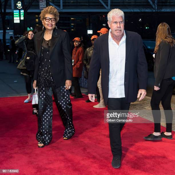 Opal Perlman and actor Ron Perlman arriving to the 'Disobedience' premiere during the 2018 Tribeca Film Festival at BMCC Tribeca PAC on April 24 2018...