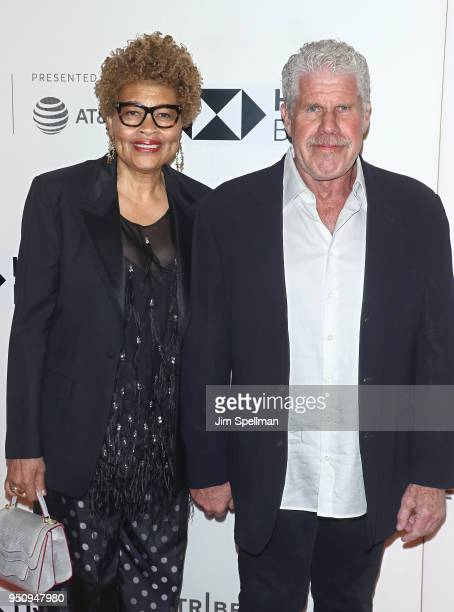 Opal Perlman and actor Ron Perlman attends the Disobedience premiere during the 2018 Tribeca Film Festival at BMCC Tribeca PAC on April 24 2018 in...