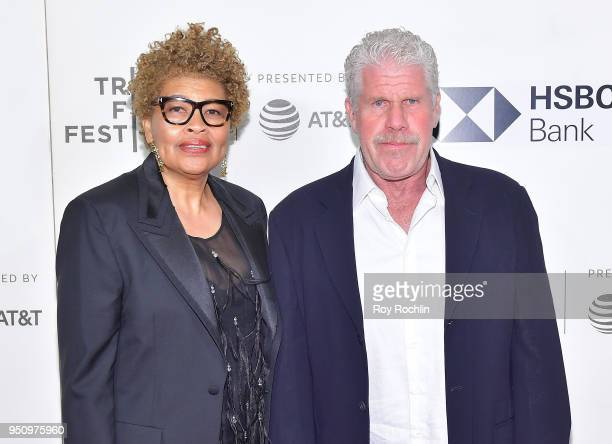 Opal Perlman and Ron Perlman attend the Disobedience premiere during the 2018 Tribeca Film Festival at BMCC Tribeca PAC on April 24 2018 in New York...
