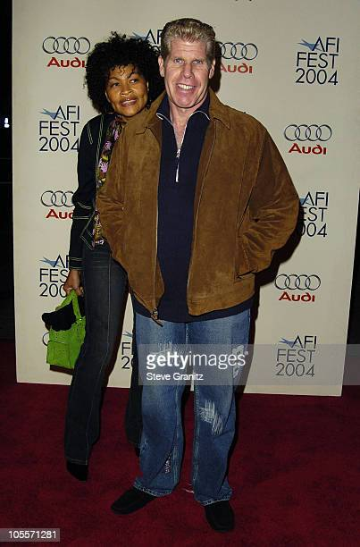 Opal Perlman and Ron Perlman during 2004 AFI Film Festival A Very Long Engagement Arrivals in Hollywood California United States