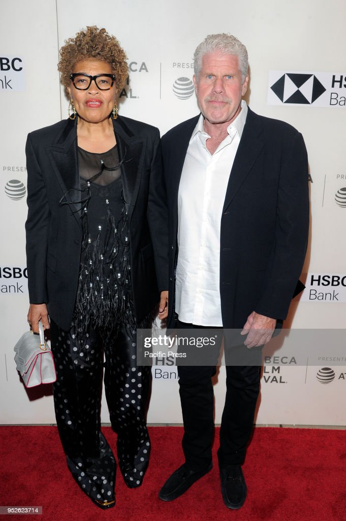 Opal Stone and Ron Perlman attend premiere of Disobedience... : News Photo