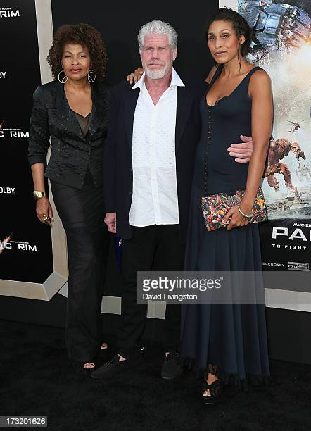 Opal Stone husband actor Ron Perlman and daughter Blake Perlman attend the premiere of Warner Bros Pictures and Legendary Pictures' Pacific Rim at...