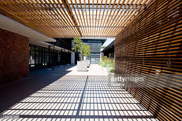 op-art pergola - japanese culture stock pictures, royalty-free photos & images