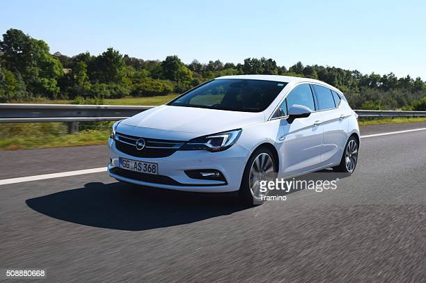 Opel Astra V driving on the highway