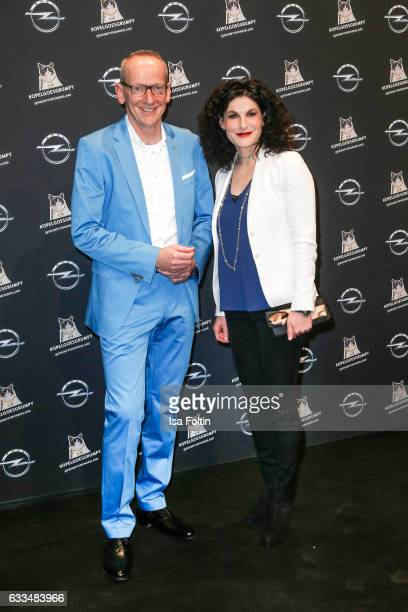 Opel CEO KarlThomas Neumann and Opel Marketing manager Tina Mueller attend the Presentation of the new Opel Calender 2017 at Kraftwerk Mitte on...