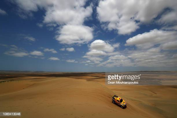 Opel Dakar Team no. 383 OPEL GRANDLAND X car driven by Balazs Szalay of Hungary and Laszlo Bunkoczi of Hungary compete in the sand, desert and dunes...