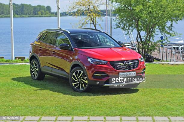 opel grandland x next to the lake - psa stock photos and pictures