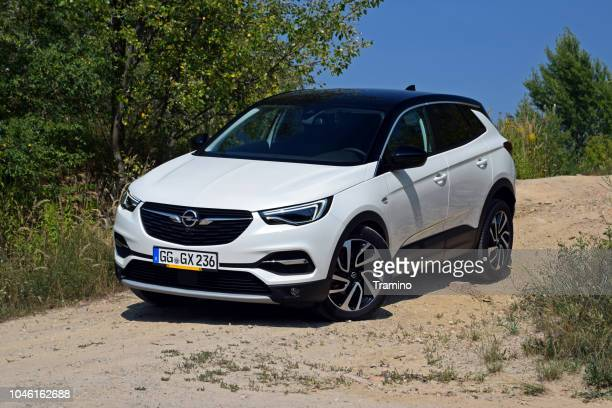 opel grandland x on the road - psa stock photos and pictures