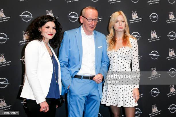 Opel Marketing manager Tina Mueller Opel CEO KarlThomas Neumann and british model Georgia May Jagger attend the Presentation of the new Opel Calender...