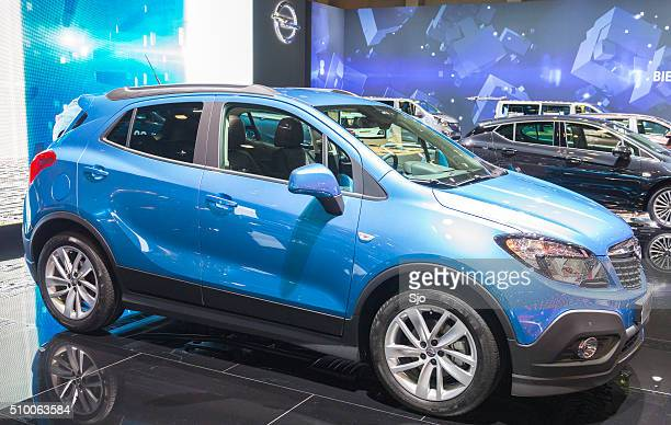 opel mokka compact suv car - mocha stock photos and pictures