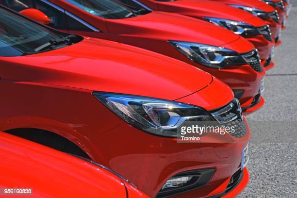 opel vehicles on the parking - psa stock photos and pictures