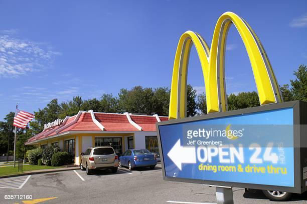 Open 24 hours McDonald's sign