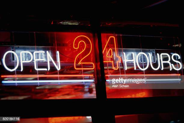 'Open 24 Hours' Sign