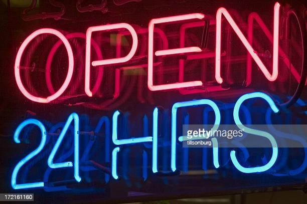 Open 24 hrs Neon